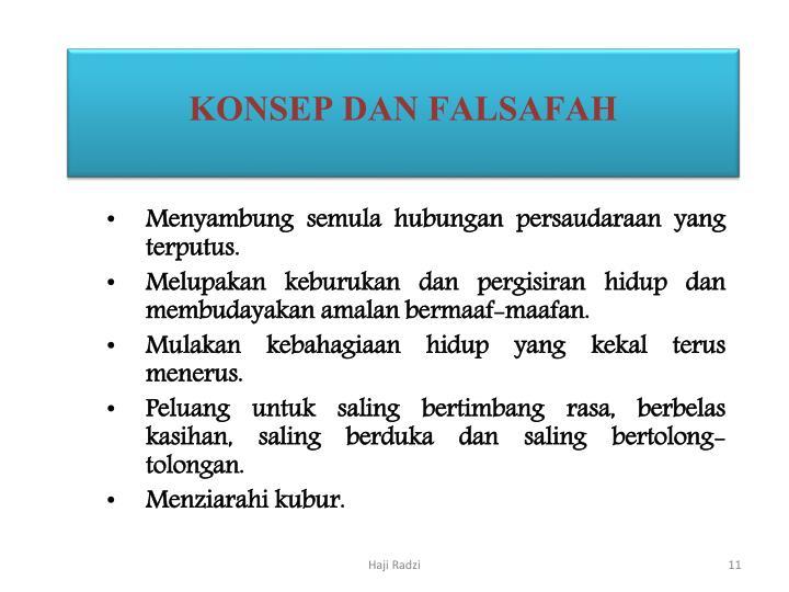 KONSEP DAN FALSAFAH