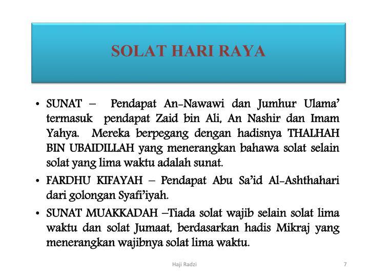 SOLAT HARI RAYA