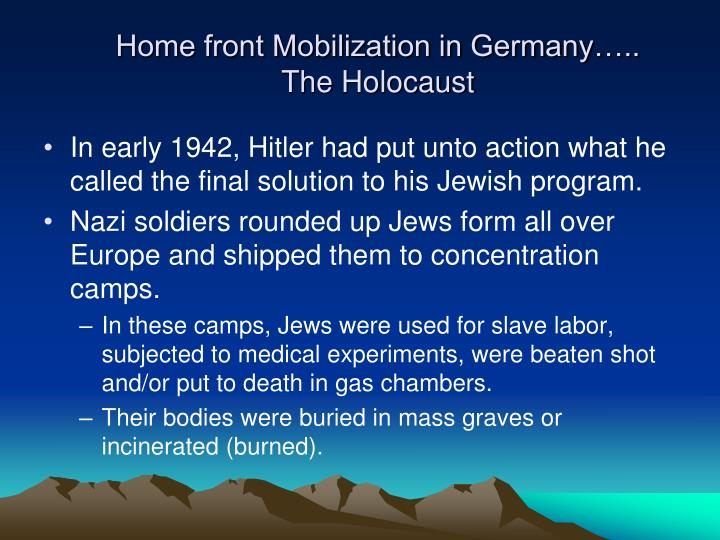 home front mobilization in germany the holocaust