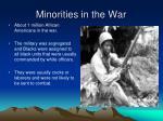 minorities in the war