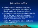 minorities in war