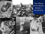 the effects of the atomic bomb in horoshima