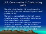 u s communities in crisis during wwii