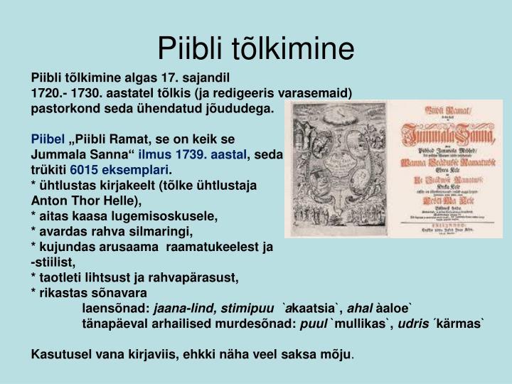 Piibli tõlkimine