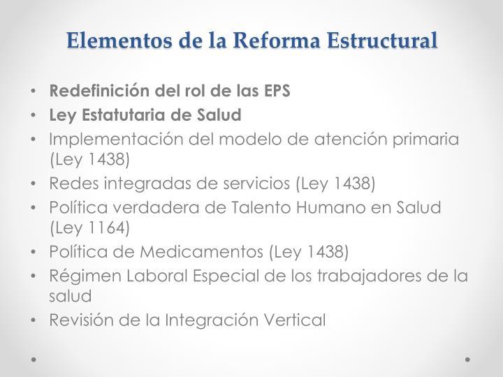 Elementos de la Reforma Estructural