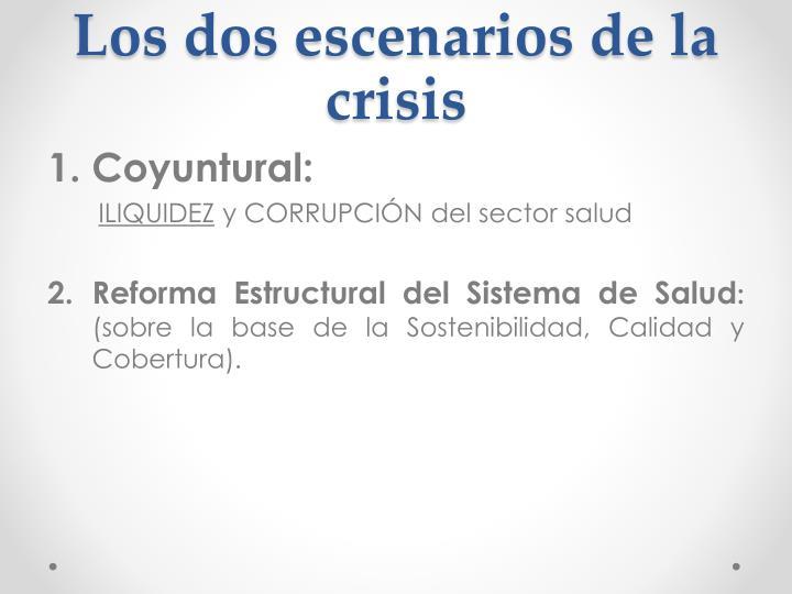 Los dos escenarios de la crisis