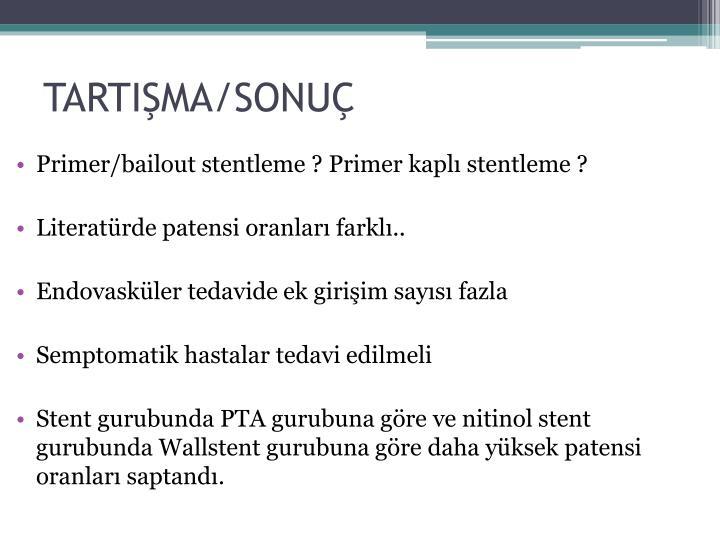 TARTIŞMA/SONUÇ