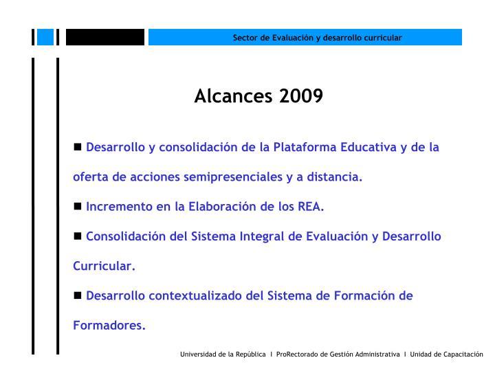 Alcances 2009