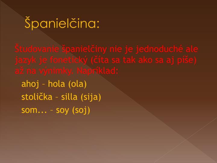Španielčina: