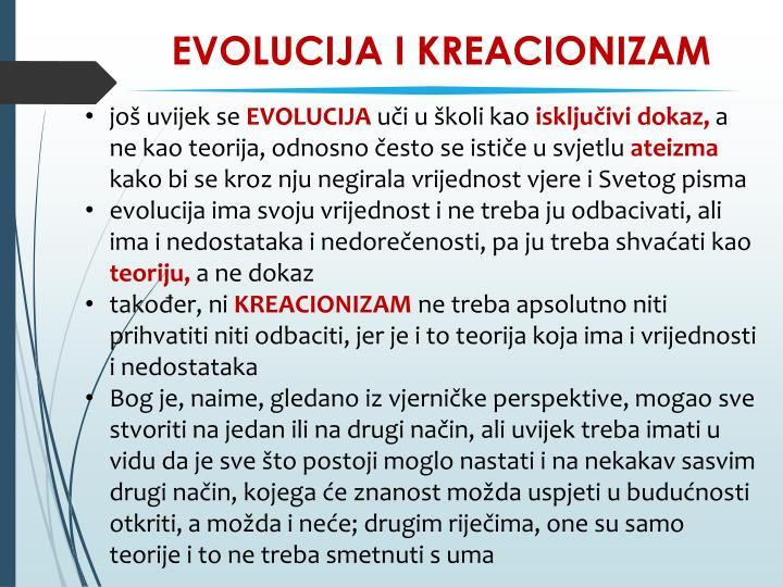 EVOLUCIJA I KREACIONIZAM