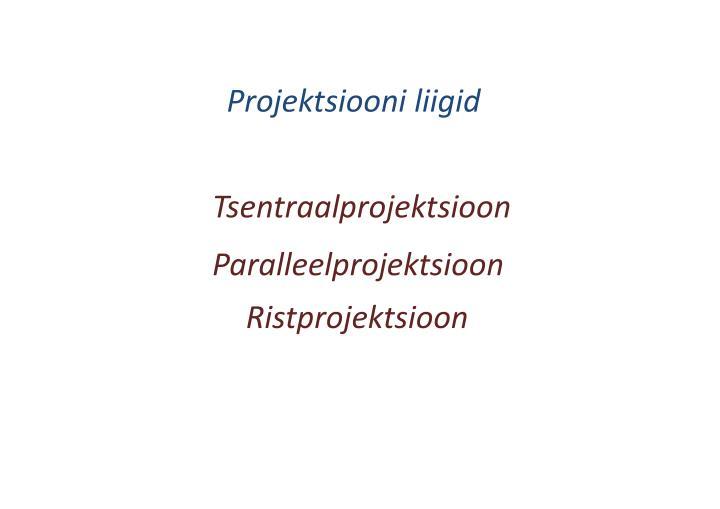 Projektsiooni liigid