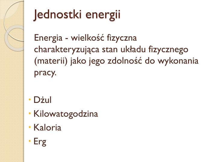Jednostki energii