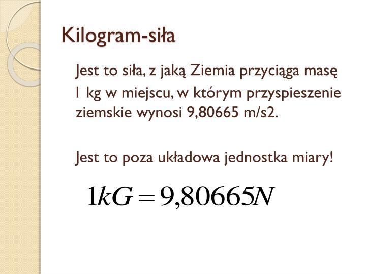 Kilogram-siła