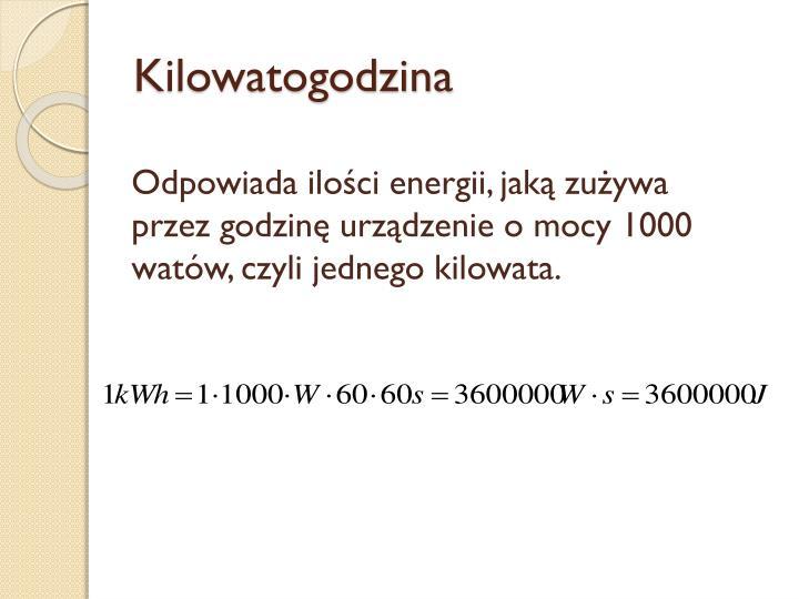 Kilowatogodzina