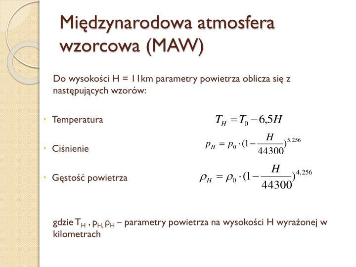 Międzynarodowa atmosfera wzorcowa (MAW)