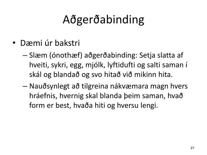 Aðgerðabinding
