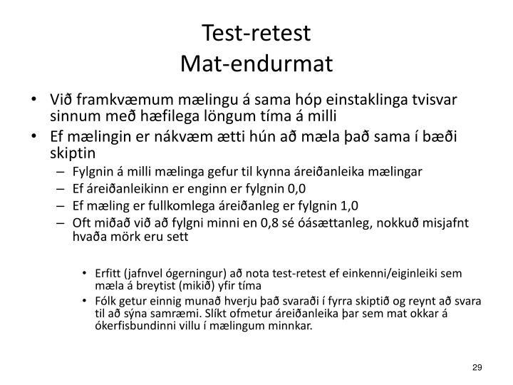 Test-retest