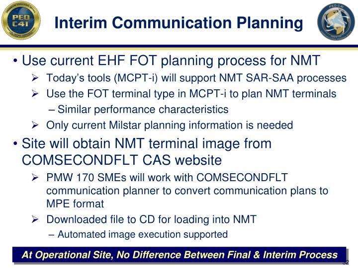 Interim Communication Planning