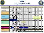 nmt program schedule