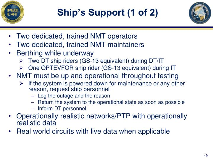 Ship's Support (1 of 2)