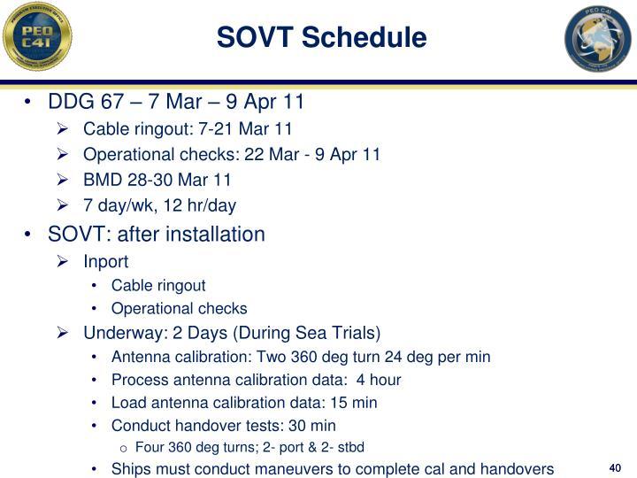 SOVT Schedule