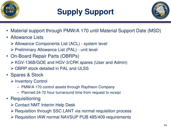 Supply Support