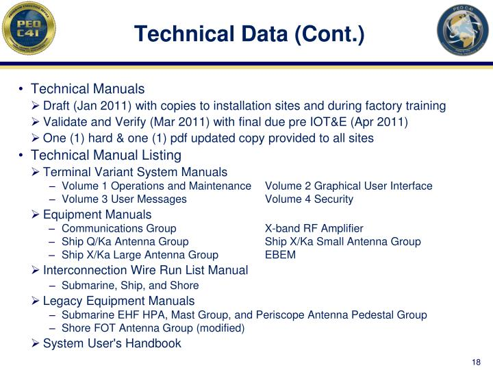 Technical Data (Cont.)