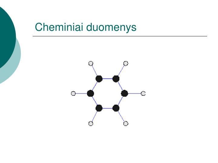 Cheminiai duomenys