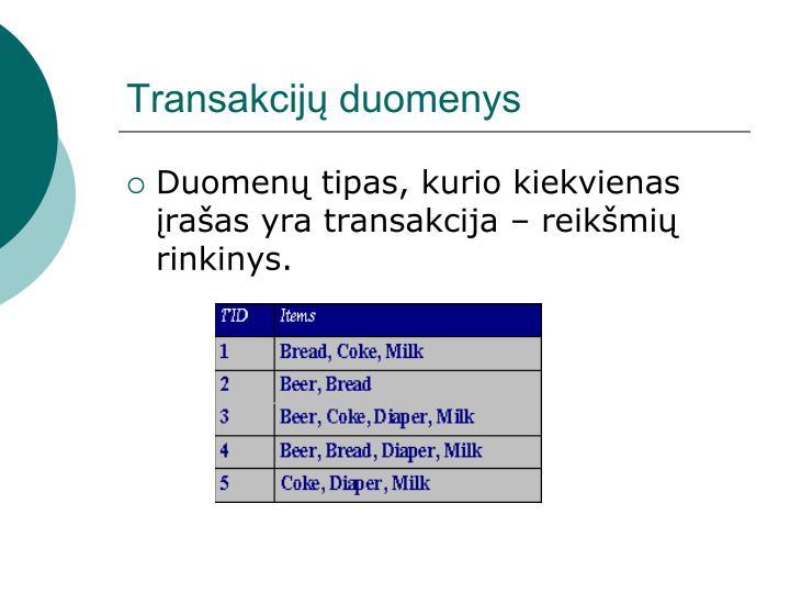 Transakcijų duomenys