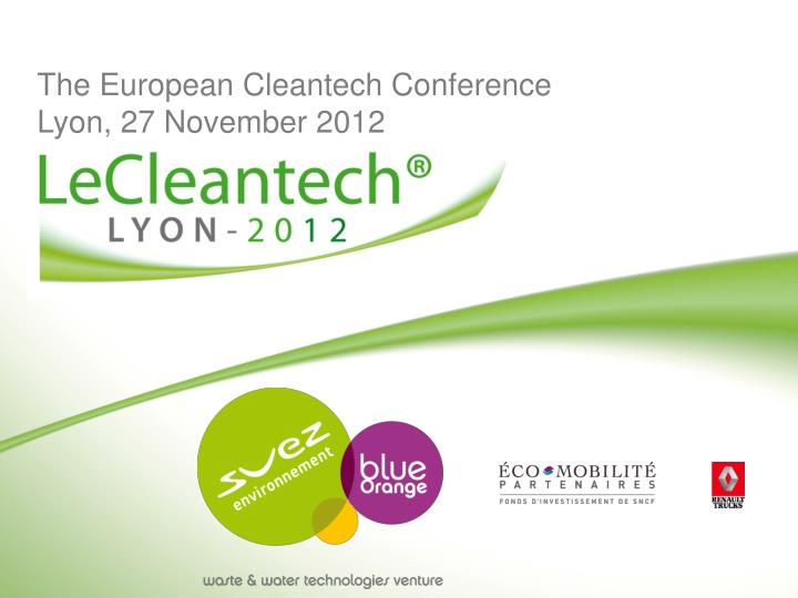 The European Cleantech Conference