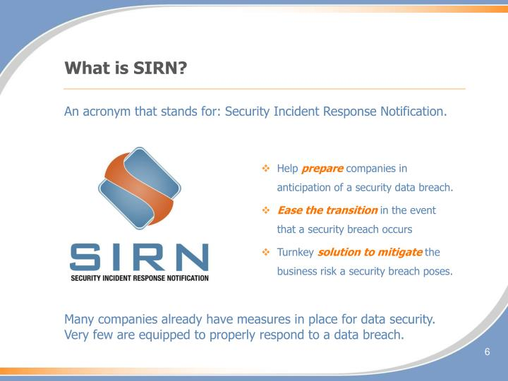 What is SIRN?