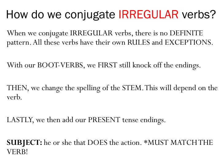 How do we conjugate