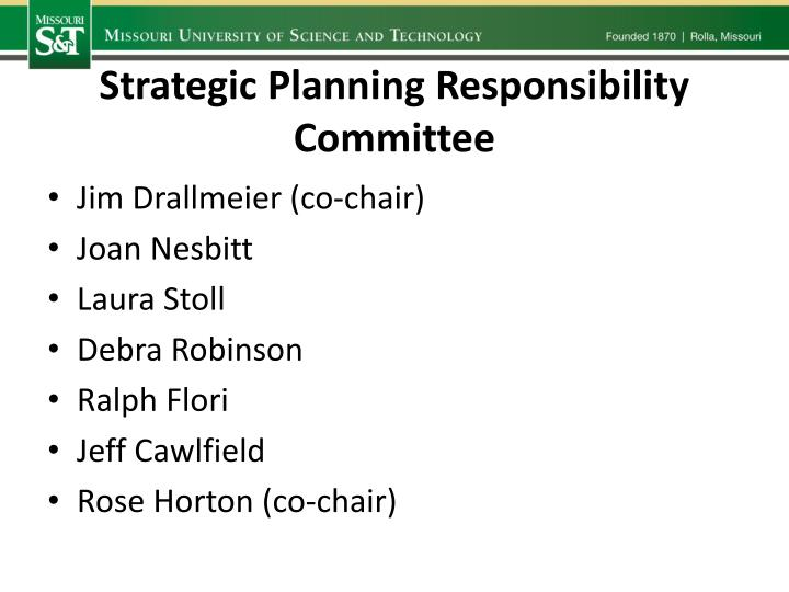 Strategic Planning Responsibility Committee