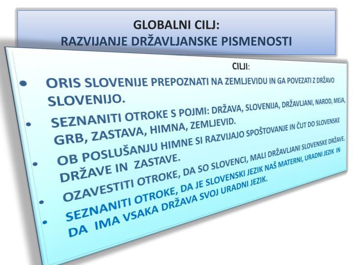 GLOBALNI CILJ: