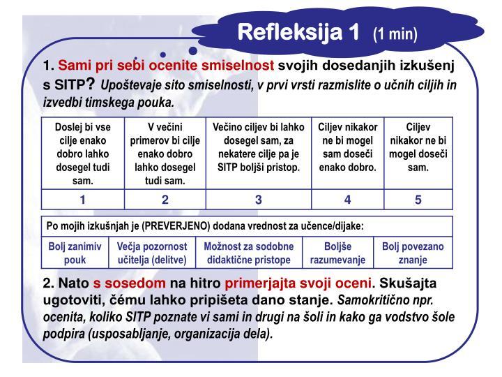 Refleksija 1