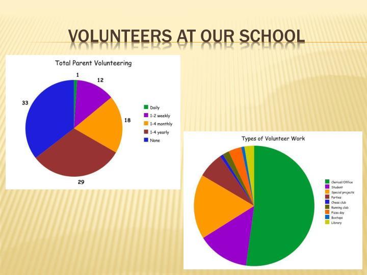 Volunteers at our School