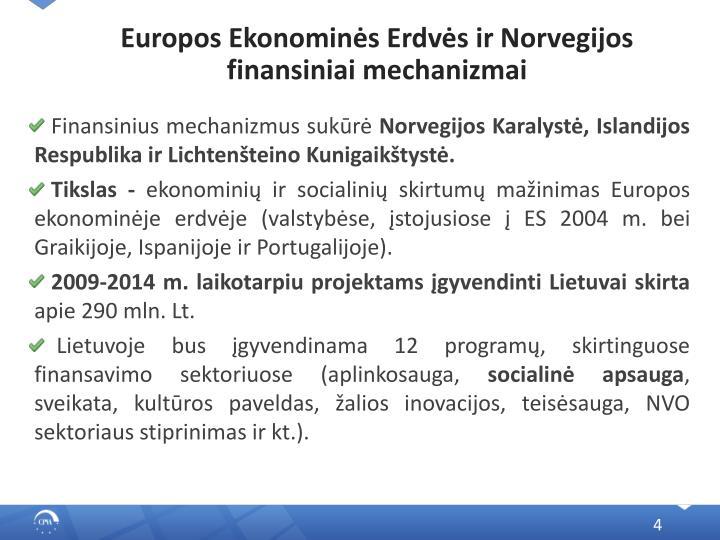 Europos Ekonominės Erdvės ir Norvegijos finansiniai mechanizmai