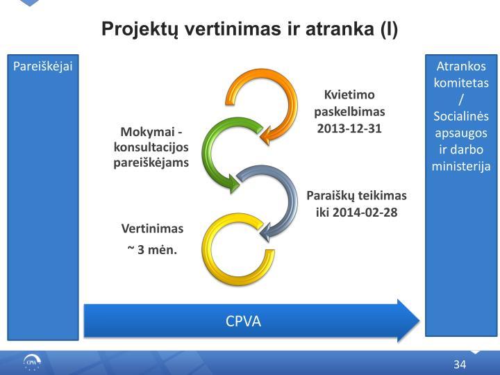 Projektų vertinimas ir atranka (I)