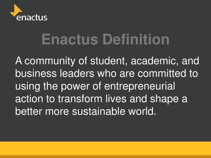 Enactus Definition