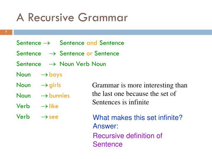 A Recursive Grammar