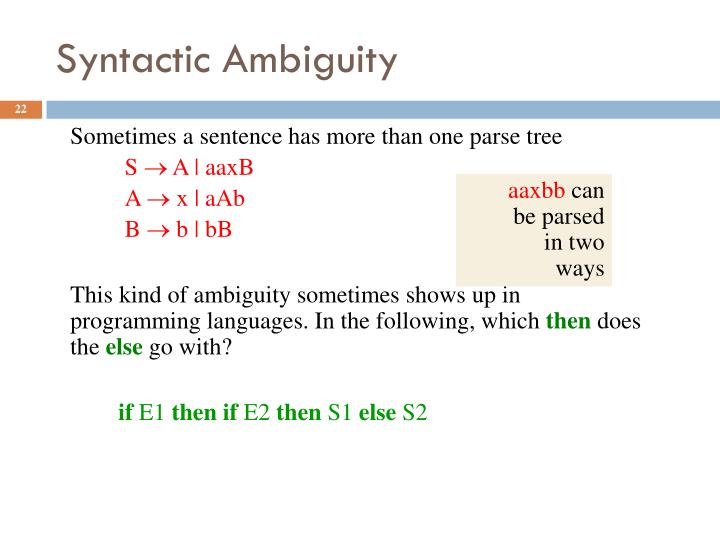 Syntactic Ambiguity