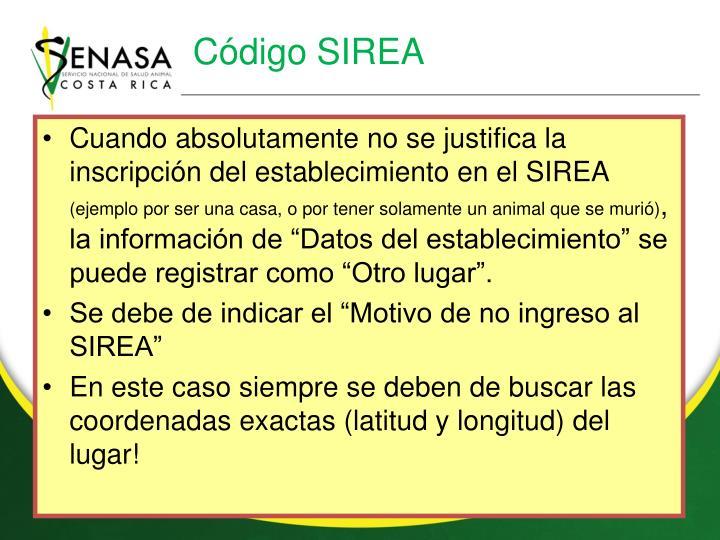 Código SIREA