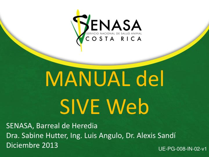 Manual del sive web