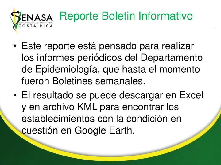 Reporte Boletin Informativo