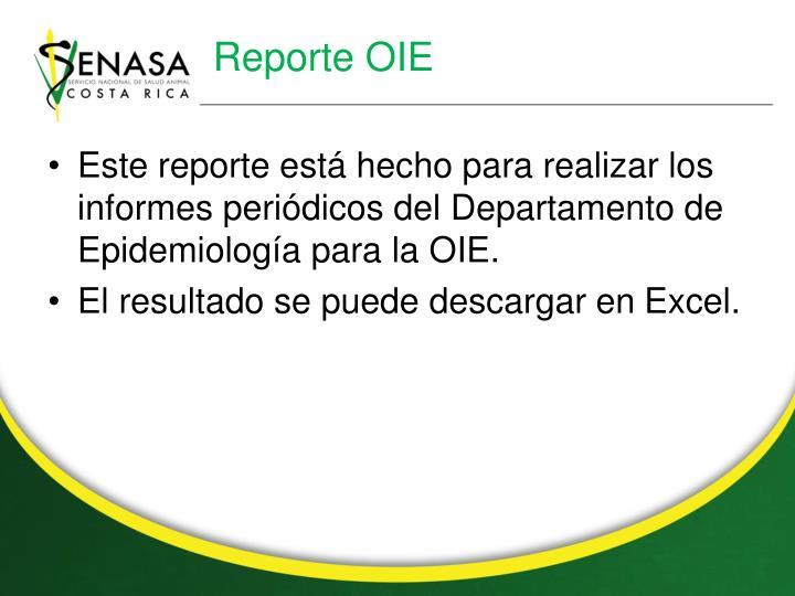 Reporte OIE