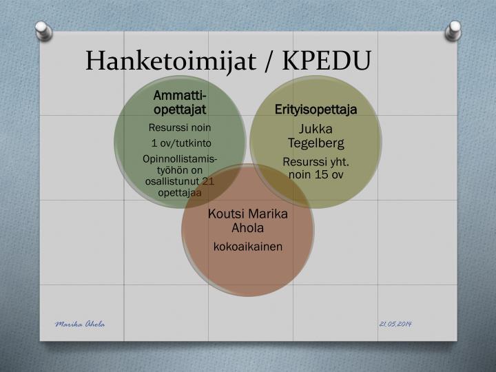 Hanketoimijat / KPEDU