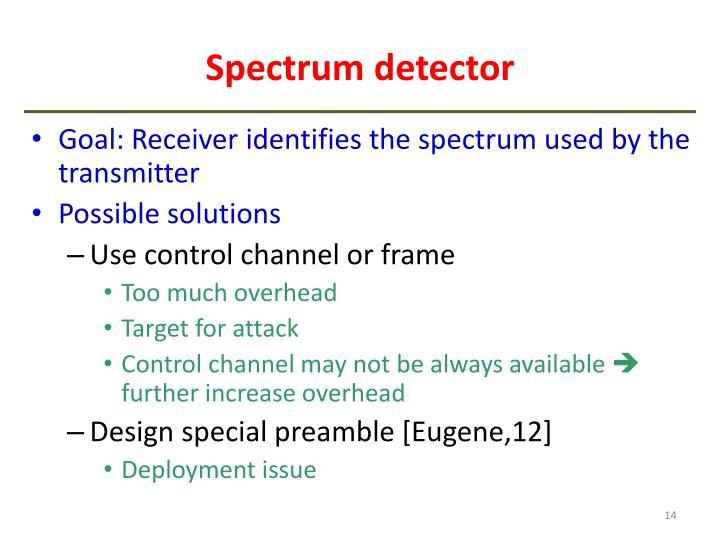 Spectrum detector