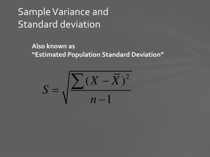 Sample Variance and