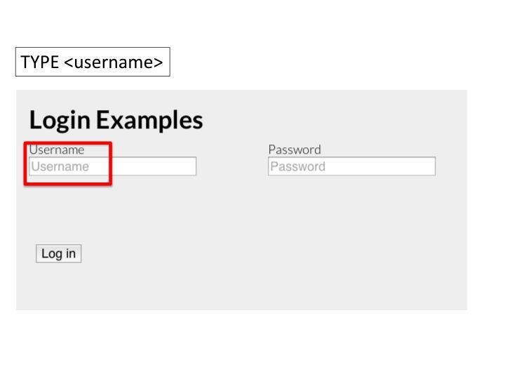 TYPE <username>