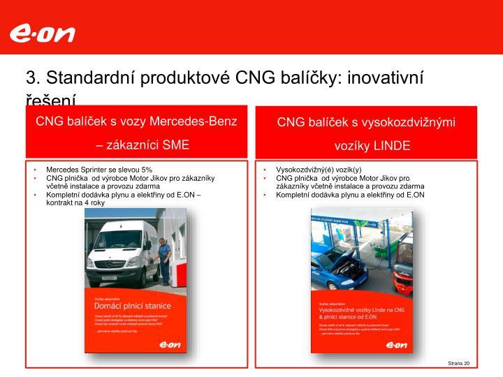 3. Standardní produktové CNG balíčky: inovativní řešení